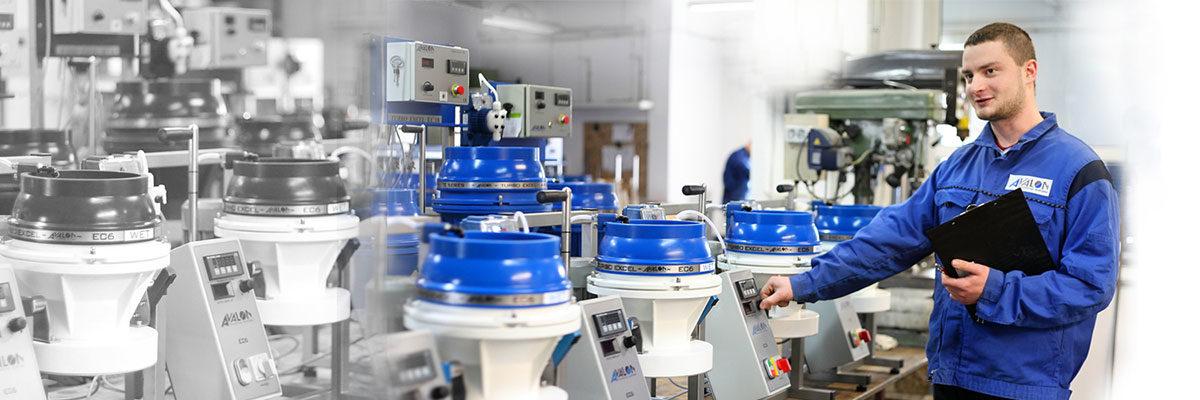 GPI dispose d'un laboratoire d'essai avec des machines de polissage et de fonte